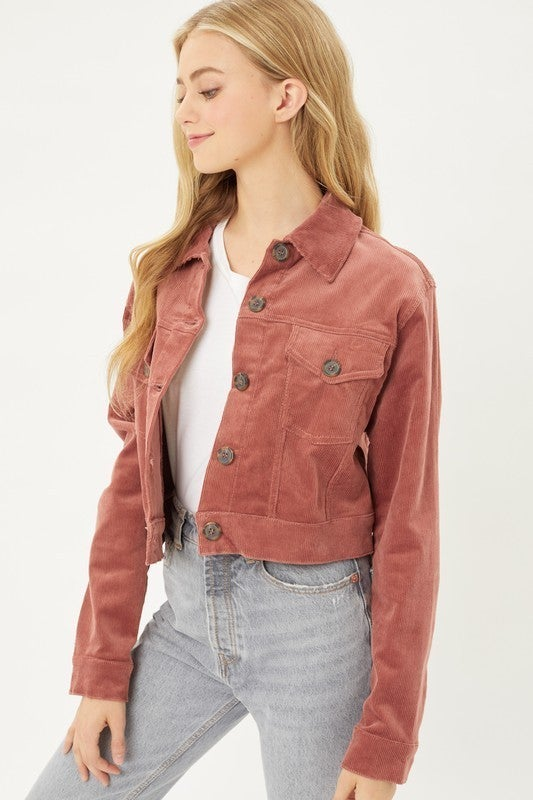 All the Right Cords Cropped Jacket