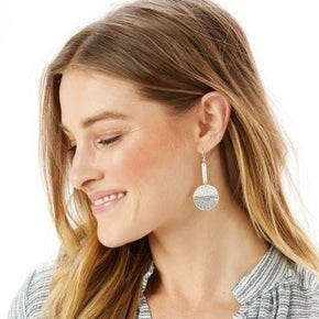 Disc French Wire Earrings