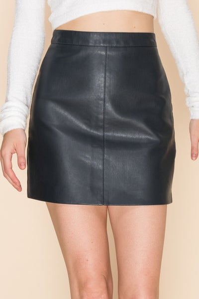 Faux Leather Skirt *Final Sale*