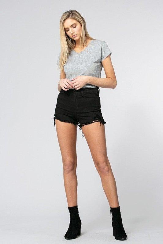 Blackout Distressed Jean Shorts *Final Sale*