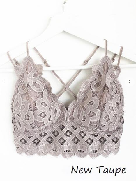 Lace Bralettes      (Plus size & Color Options) *Final Sale*