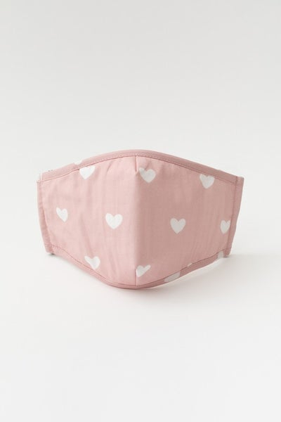 Heart Printed Face Mask