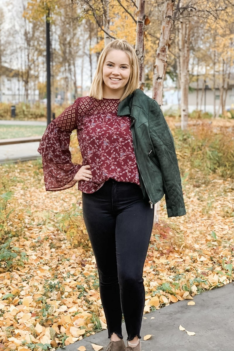 Tiered Floral Blouse *Final Sale*