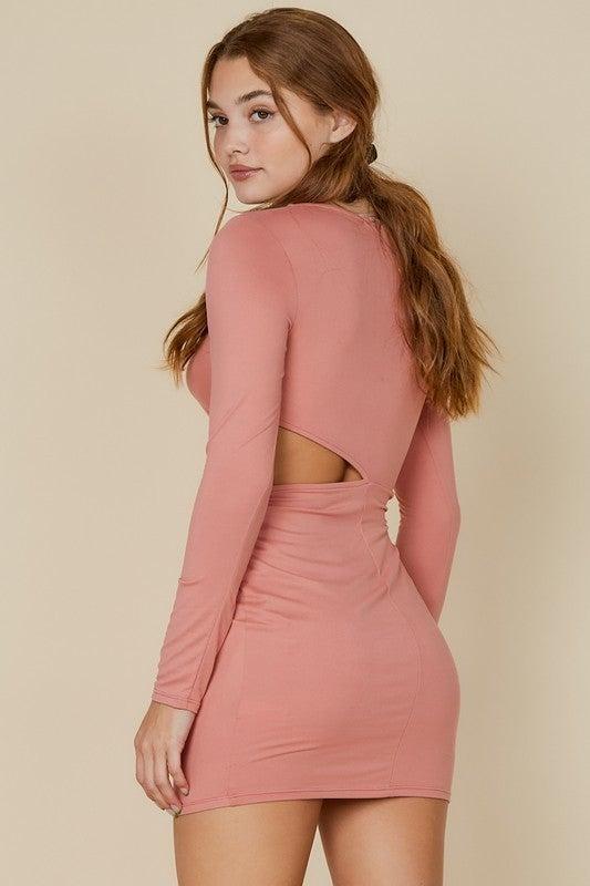 Blush Side Cut Dress