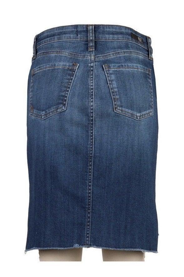 Connie Hi-Low Hem Denim Skirt