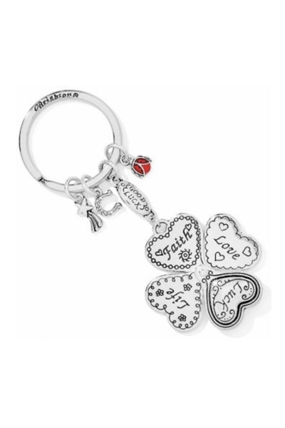 Lucky Clover Heart Key Fob