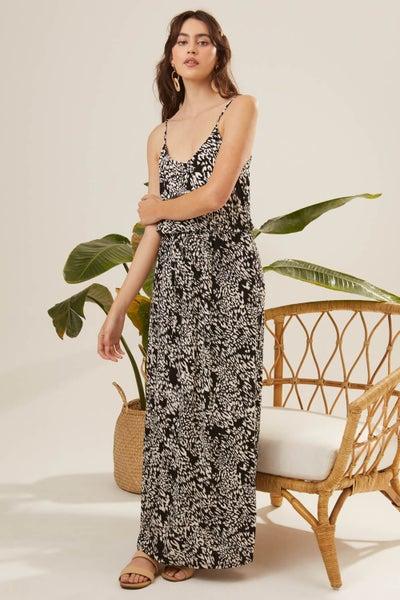 Spotted Print Maxi Dress