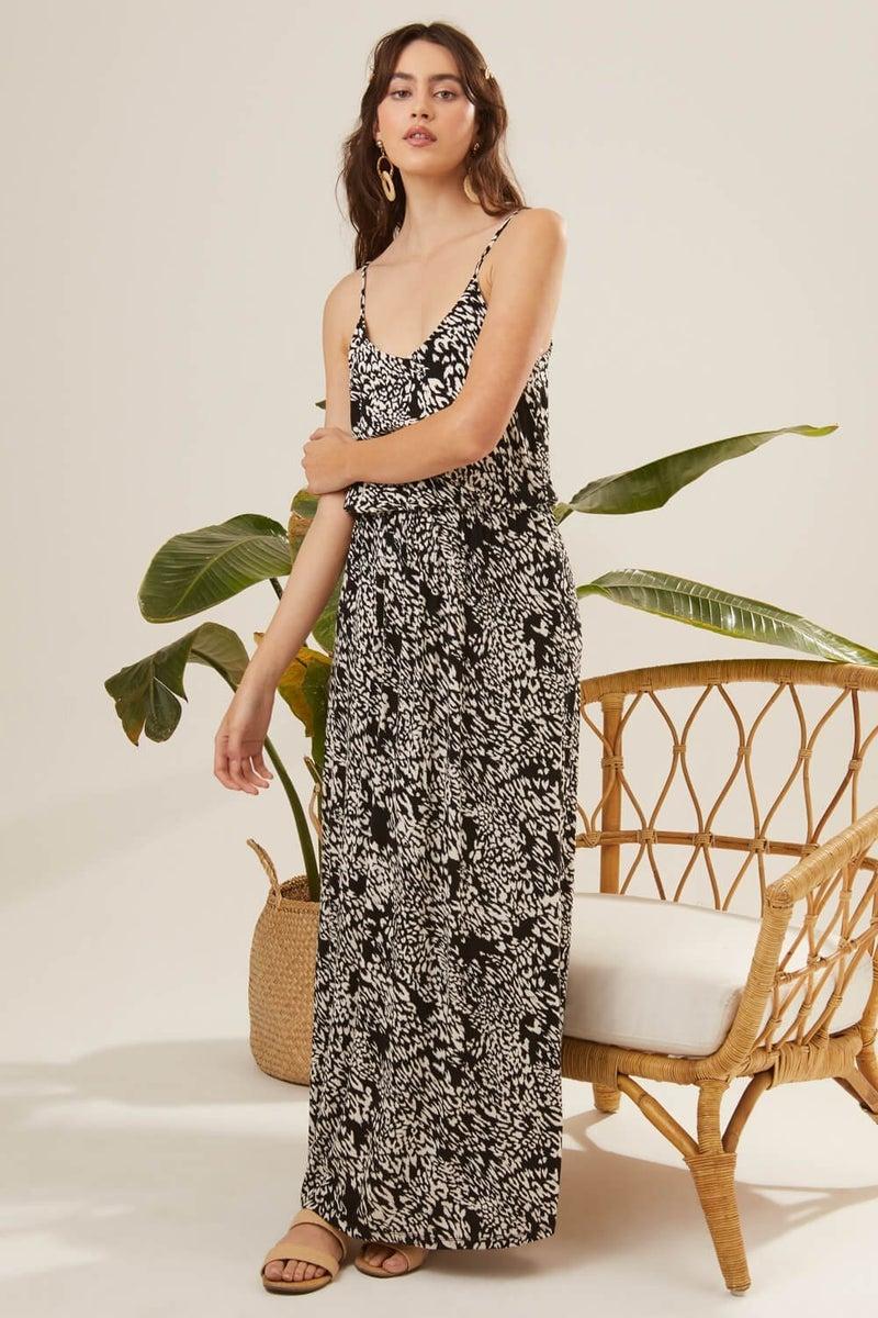 Spotted Print Maxi Dress *Final Sale*