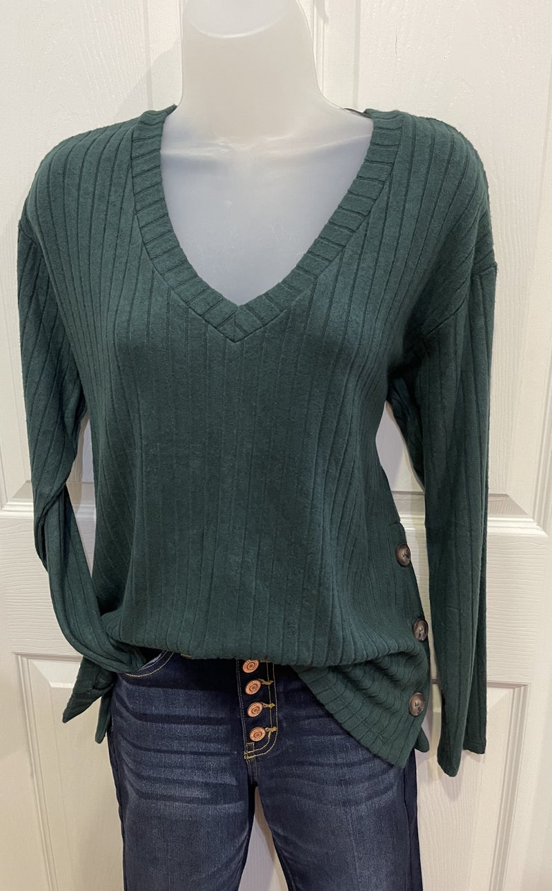 Buttons On The Sides Sweater