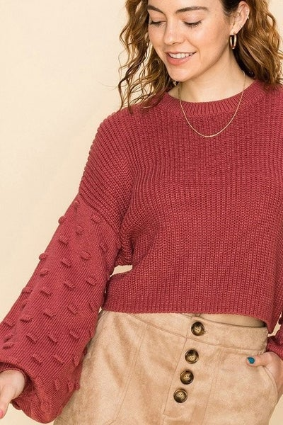 Cropped Bubble Sweater *Final Sale*