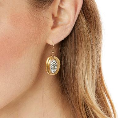 Ferrara Artisan Two Tone French Wire Earrings
