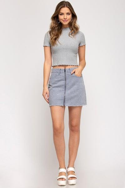 Zipped Up Skirt