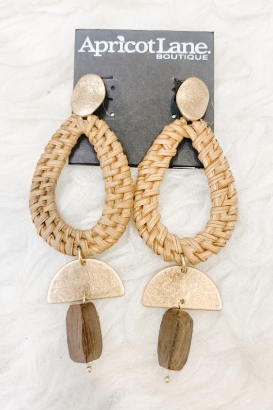 Woven Together Dangle Earrings