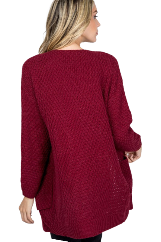 No Wine-ing Cardigan Sweater