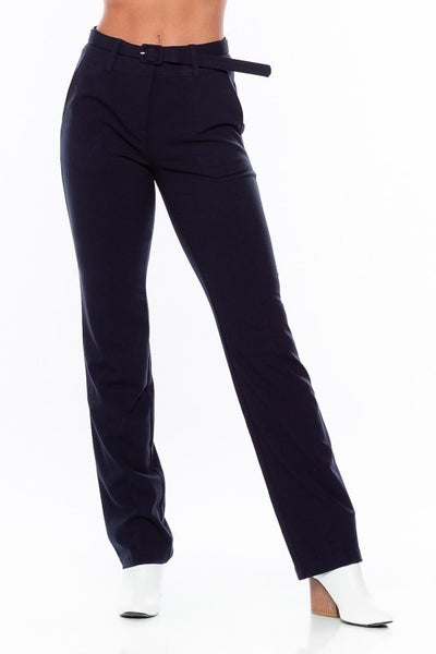 Mid Rise Pant With Belt