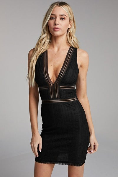 Mesh Body-con Dress