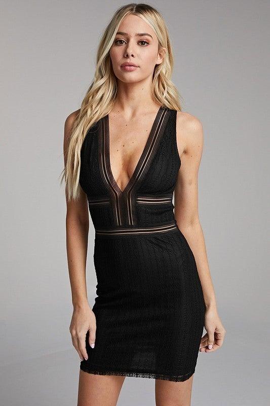 Mesh Body-con Dress *Final Sale*