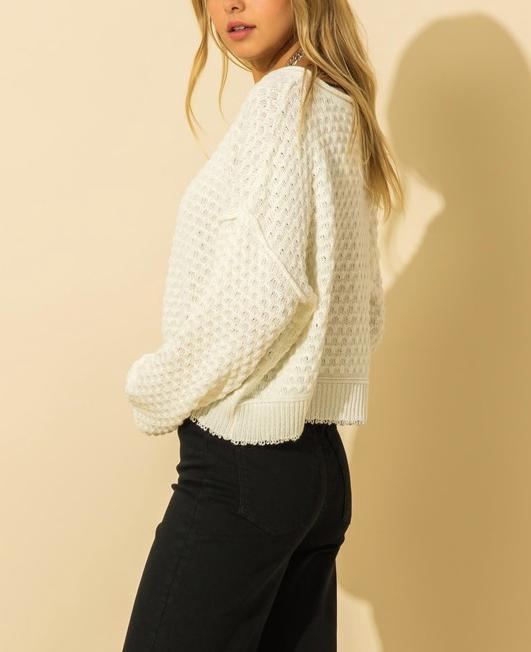 Little White Knit Sweater