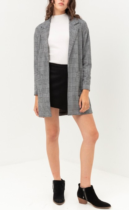 Houndstooth Trench Jacket