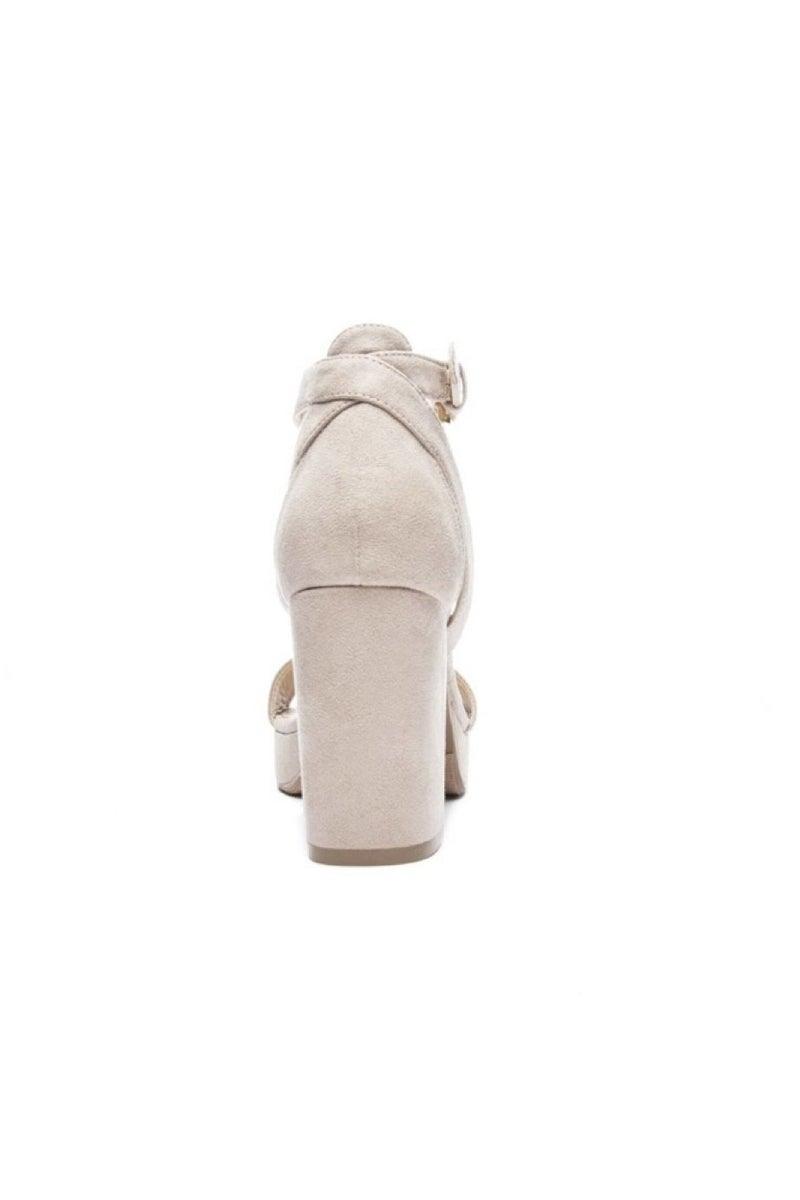 Go On Block Heel Sandal (Black/Nude)
