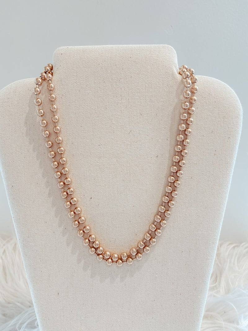 Toggle Chain Ball Beaded Necklace