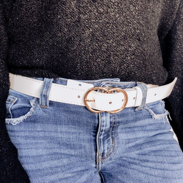 Loop Me Round Belt - White