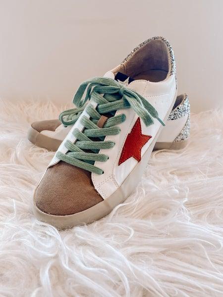Red Rock Star Sneakers