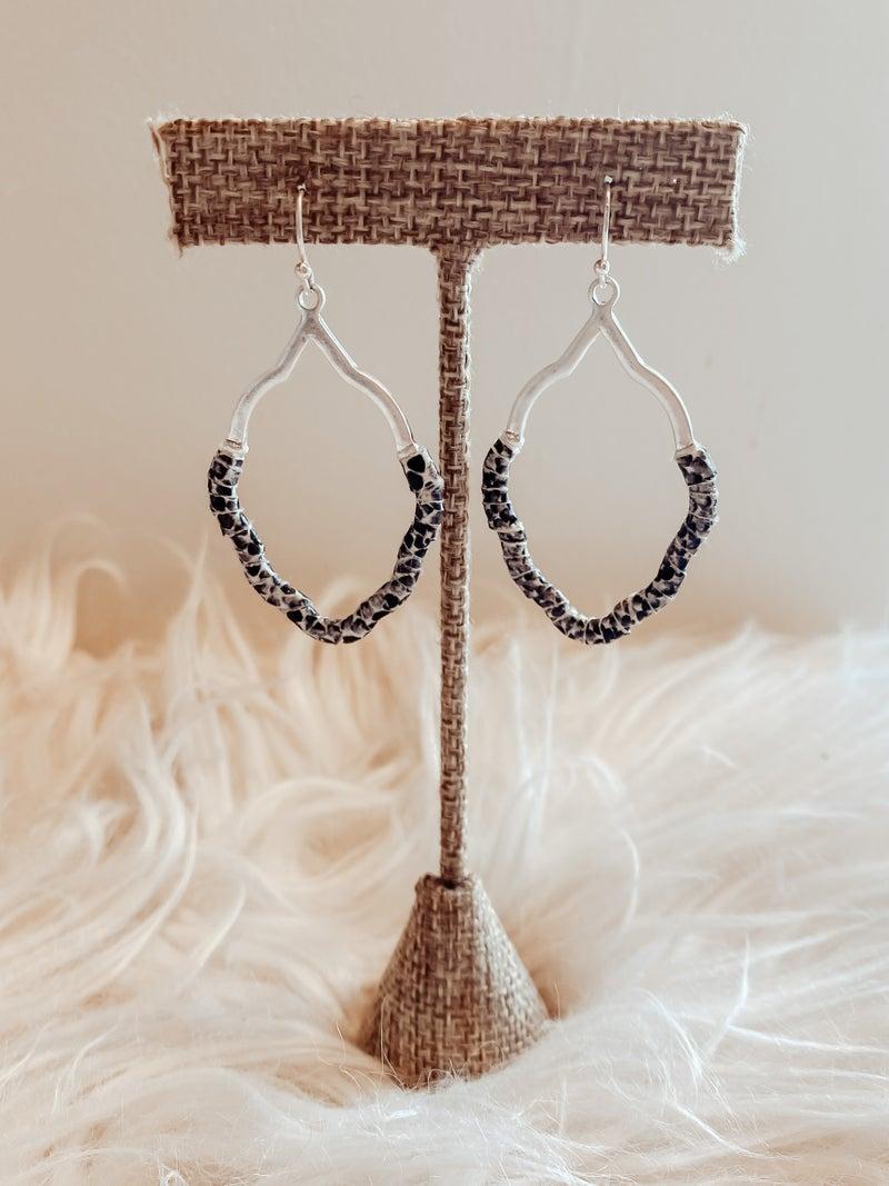 Silver Snakeskin Earrings