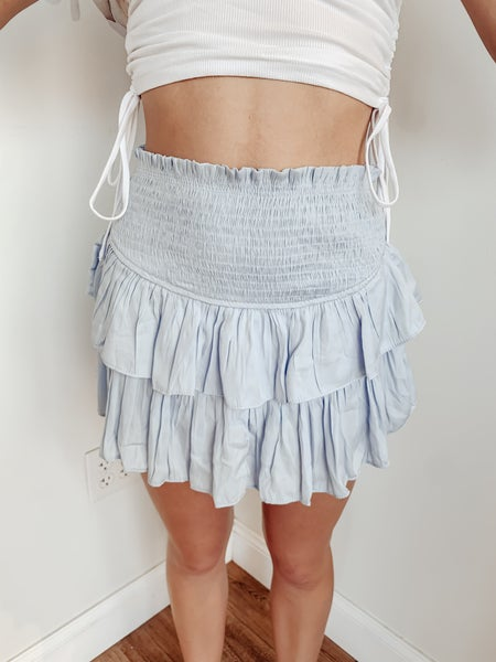 Ruffle Me Up Skirt - Blue
