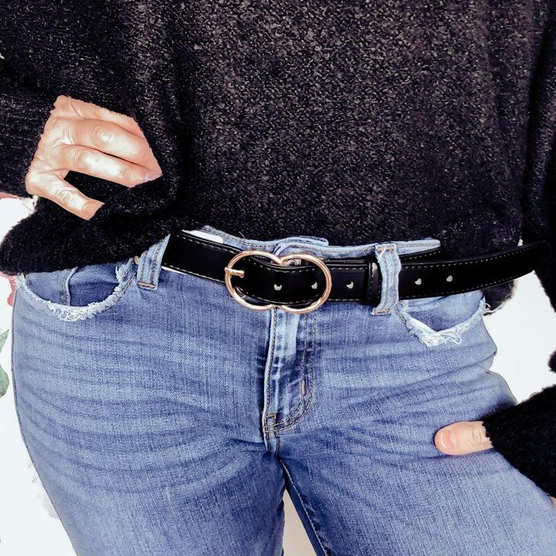 Loop Me Round Belt - Black