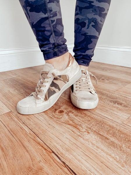 Golden Camo Sneakers