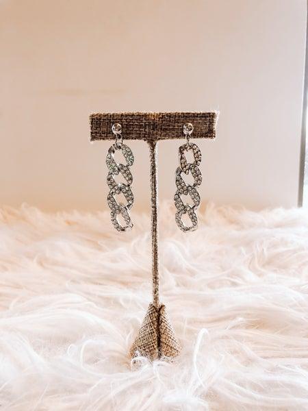 Silver Chain Earrings