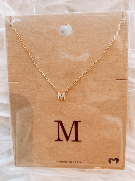 Dainty Gold Initial Necklace