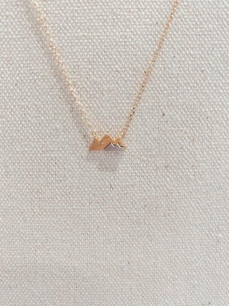 Dainty Mini Mountain Pendant Necklace