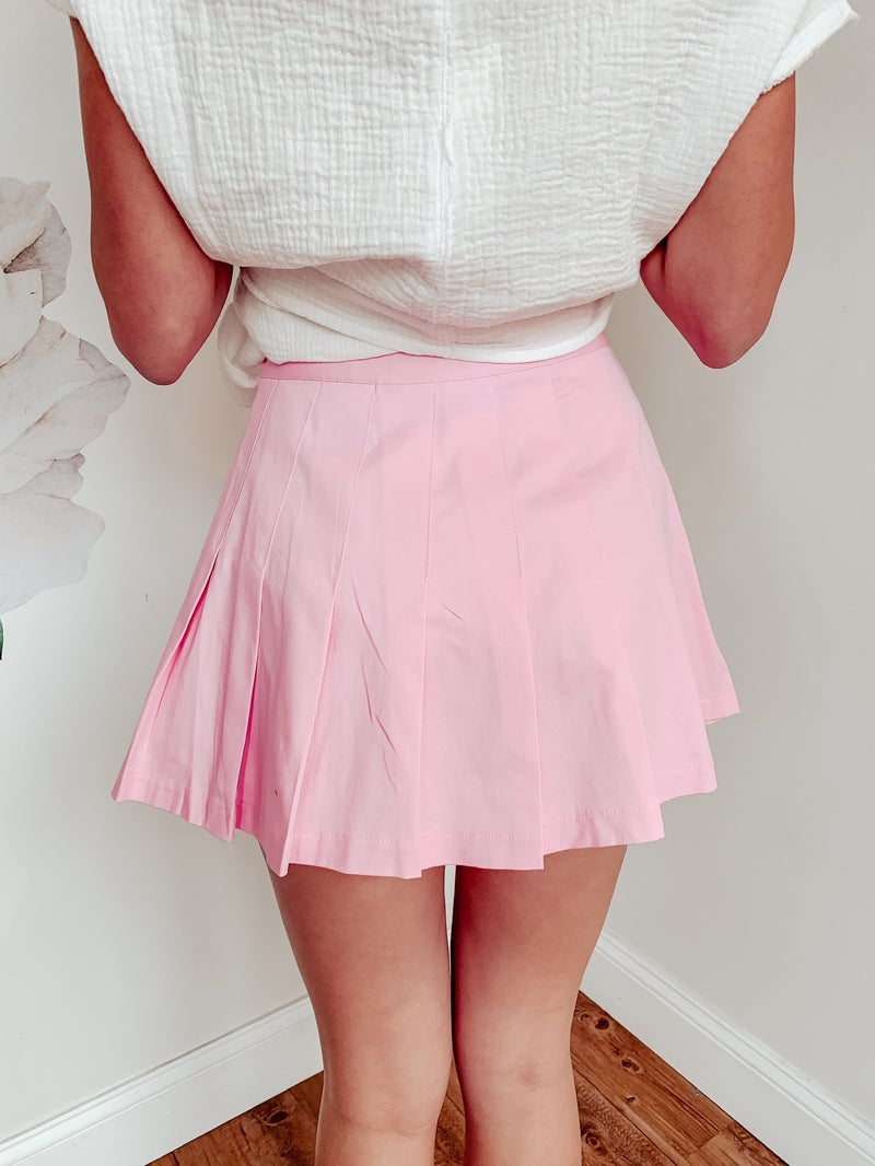 Barbie Pink Pleated Skirt with Shorts