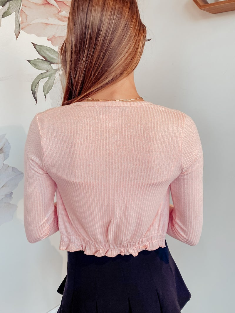 Made for Each Other Sweater Set - Pink