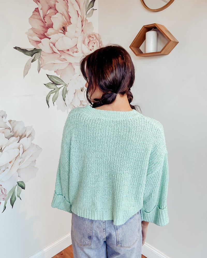 Minty Cool Sweater