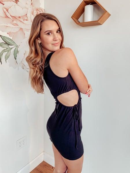 Catch My Vibe Dress - Black