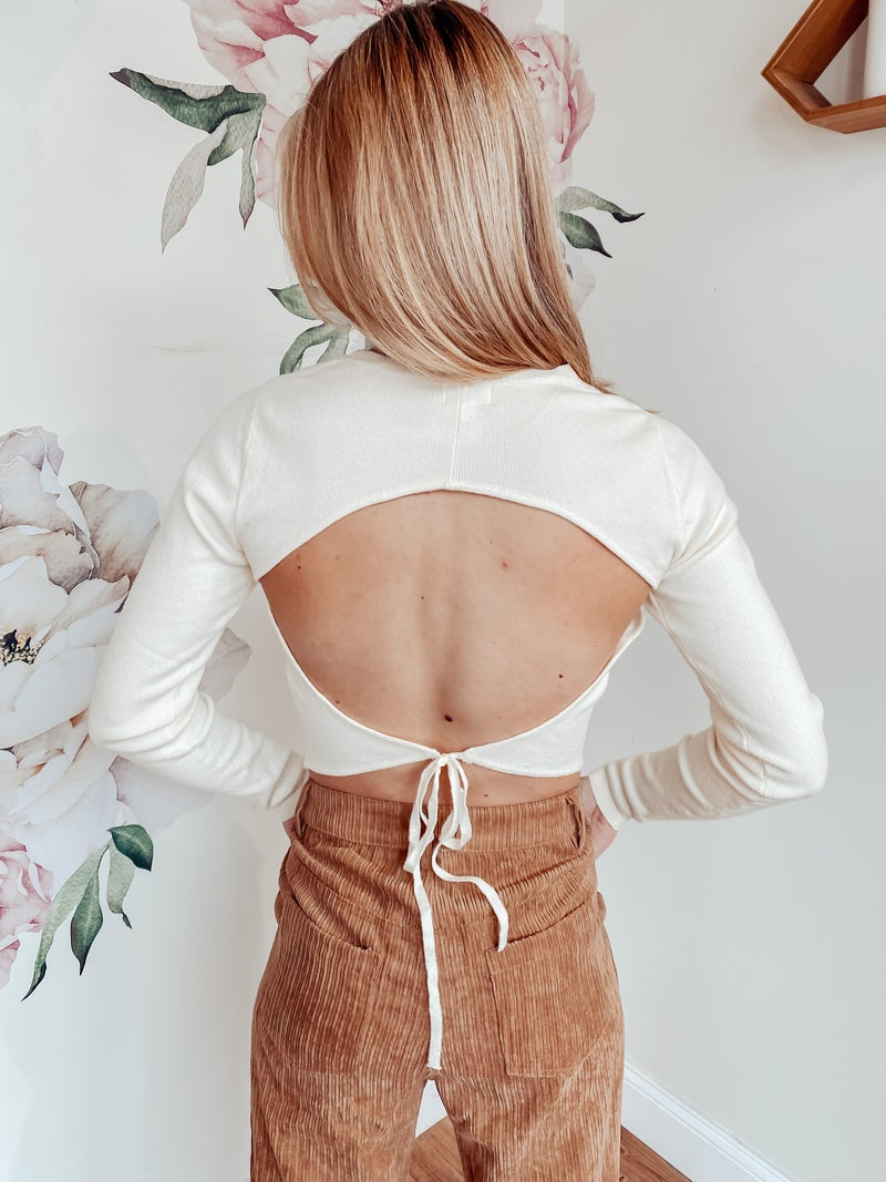 Open Back Up Sweater