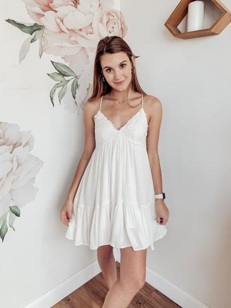 Sometime Soon Dress - White