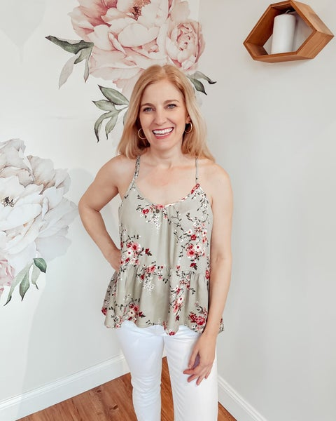 Floral Fields Tunic Tank
