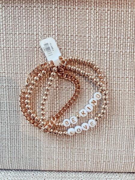 Be Kind - Love - Triple Layer Bracelet