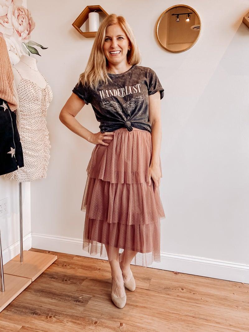 Flouncey Polka Dot Skirt