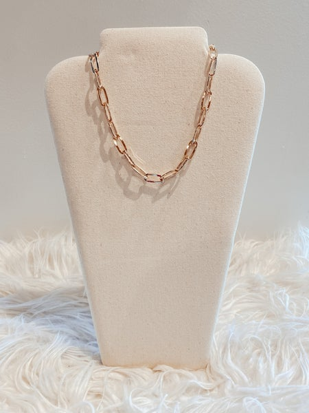 Paperclip Gold Link Chain Necklace