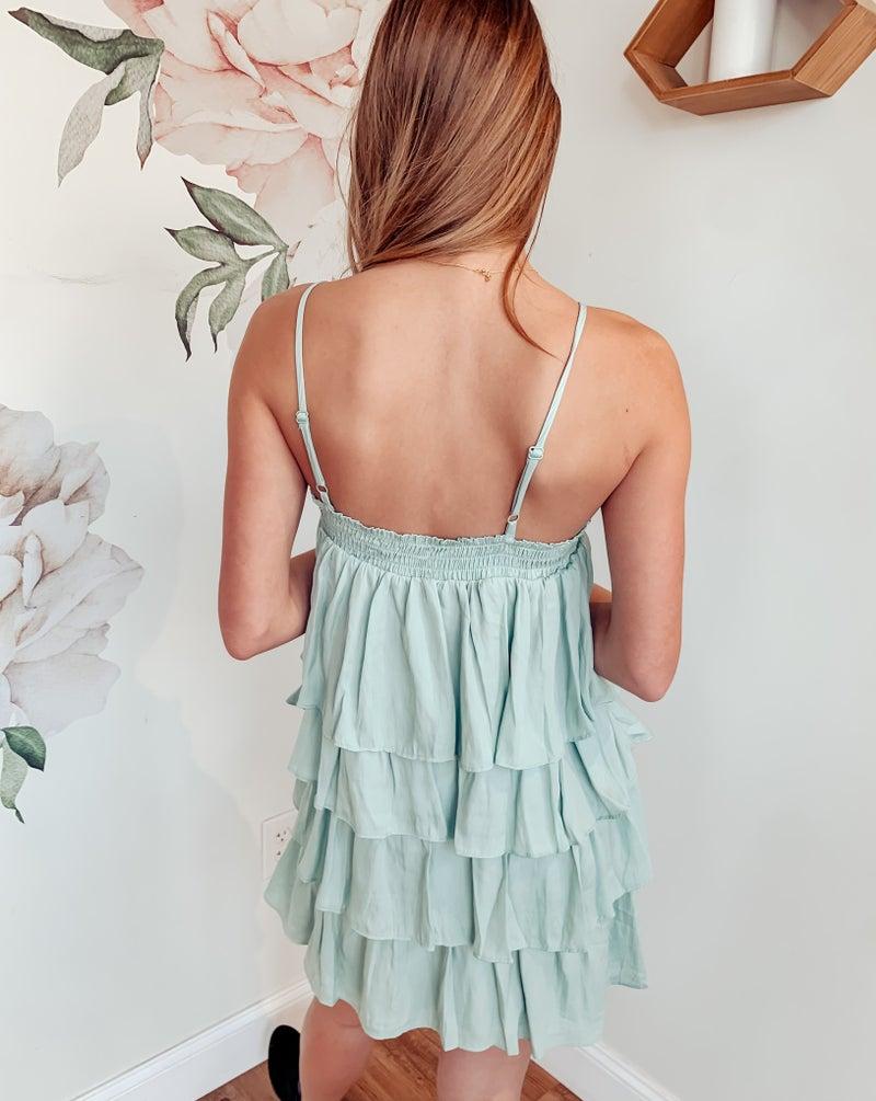 Mint Julep Tiered Dress