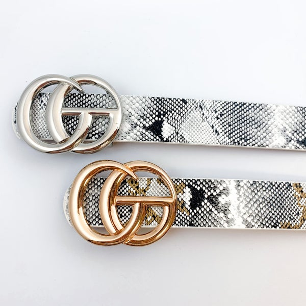 Thin Double G Snake Belts