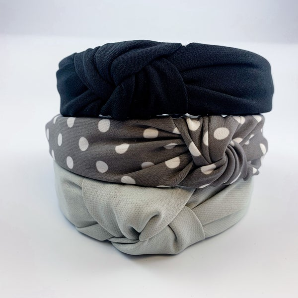 Shades of Grey Knotted Headbands