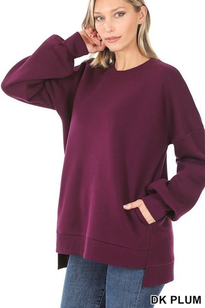 Cara Hi-Low Hem Sweatshirt (3 colors) 40% OFF!!