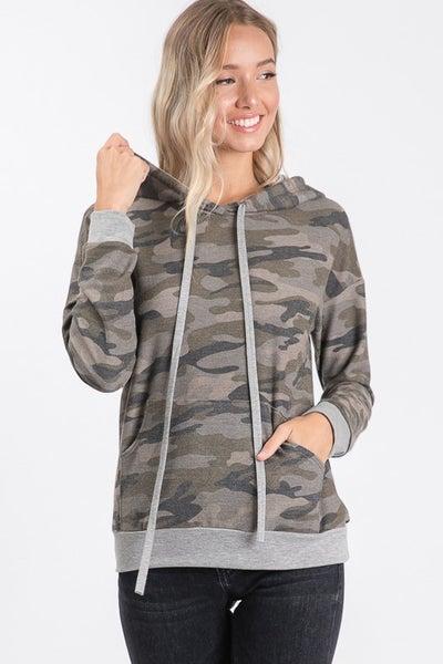 Carrie Camo Hooded Sweatshirt
