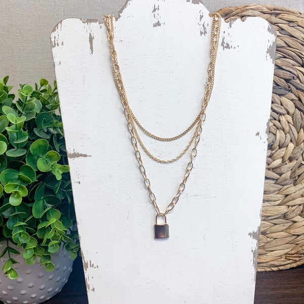 Ivy Lock Layered Necklace